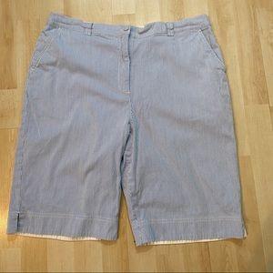 🛍3/$25 Tabi seersucker Bermuda shorts